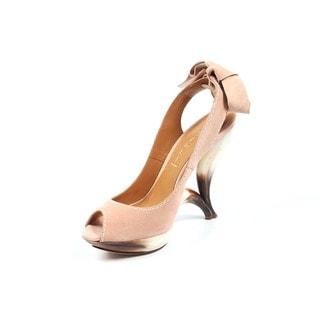 Casadei Women's 2822C Renna Pink Suede Sandals