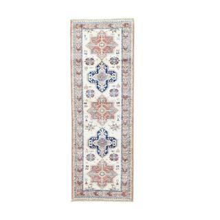 Super Kazak Runner Tribal Design Hand-knotted Rug (2'3 x 6'6)