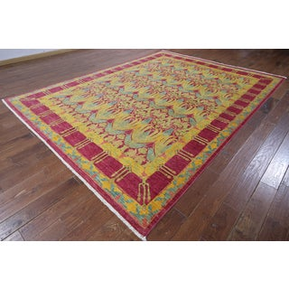 Hand-knotted Multicolor Wool Oriental Suzani Rug (8' 1 x 10' 3)