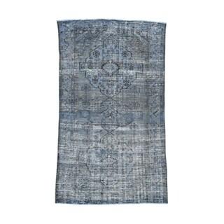 Persian Bakhtiar Over-dyed Handmade Wide Runner Rug (5'5 x 9'4)
