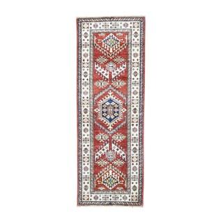 Super Kazak Tribal Hand-knotted Runner Rug (2'1 x 6')