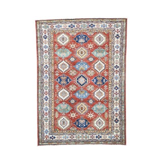 100-percent Wool Super Kazak Hand-knotted Rug (6' x 8'6)