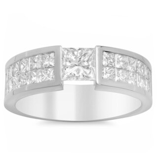 Artistry Collections 14k White Gold 3 3/4-carat TDW Diamond Men's Ring