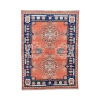 Afghan Ersari Khotan Design Hand-knotted Rug (4'10 x 6'9)