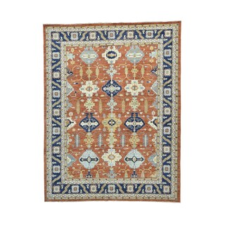 100-percent Wool Hand-knotted Karajeh Rug (9'3 x 12'1)