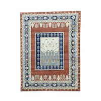 Pictorial Tree Design Hand-knotted Pure Wool Rug (9' x 12')