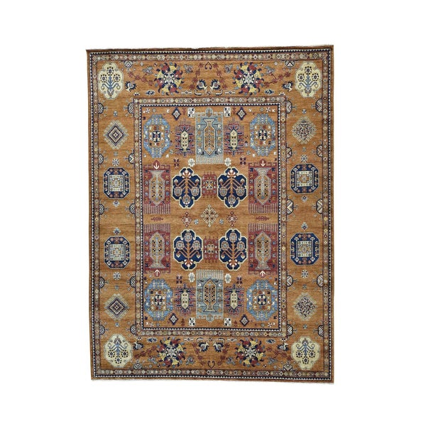 Afghan Ersari Vegetable Dyes Hand-knotted Rug (10'2 x 13'9)