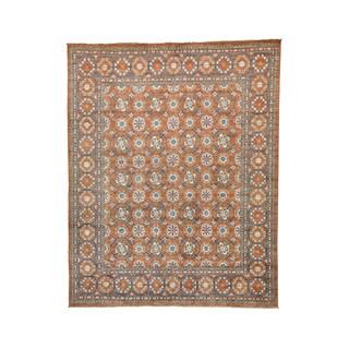 Afghan Ersari Beshir Design Pure Wool Hand-knotted Rug (9' x 11'2)