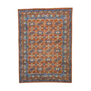 Pure Wool Afghan Ersari Hand-knotted Rug (9'7 x 13'4)