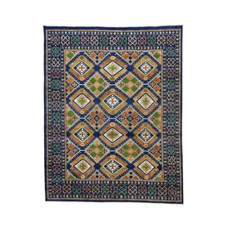 Afghan Ersari Navy Blue Hand-knotted Pure Wool Rug (8' x 10'2)