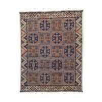 Afghan Ersari Block Design Hand-knotted Rug (8'2 x 10'6)