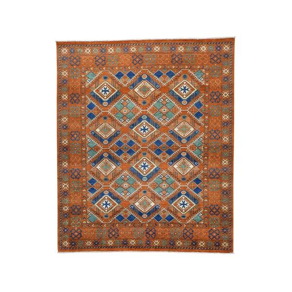 Afghan Ersari Geometric-design Hand-knotted Rug (8' x 9'7)