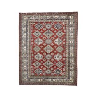 Super Kazak Red Geometric Design Hand-knotted Rug (8'5 x 10'5)