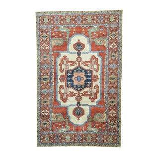 Hand-knotted Antiqued Bakshaish Oversized Multicolored Pure Wool Rug (9'8 x 15'4)