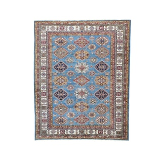 Multicolored Hand-knotted Super Kazak Tribal and Geometric Design Rug (8'1 x 10'1)
