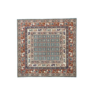 Pazyryk Historical Design Antiqued Hand-knotted Rug (7'10 x 8')