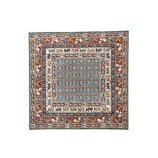 Pazyryk Historical Design Antiqued Hand-knotted Rug (7'10 x 8')