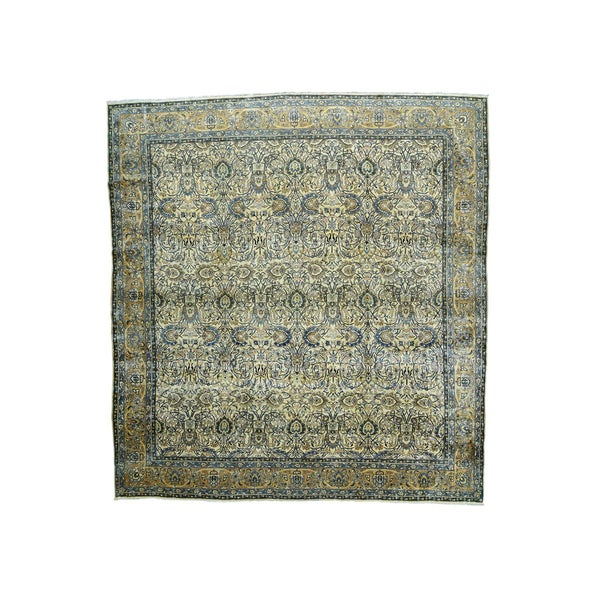 Oversize Antique Persian Kerman Rug (14' x 14'9)