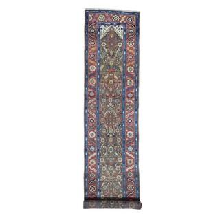 Antique Persian Bakshaish Runner Hand-knotted Rug (3' x 13'6)