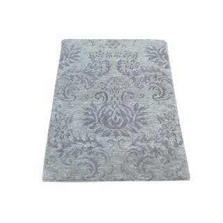 Bamboo Silk Tone-on-tone Damask Rug (2' x 3')