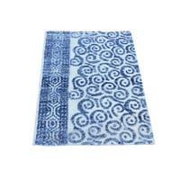 Denim Blue Viscose from Bamboo Modern Hand-knotted Rug - 2' x 3'1