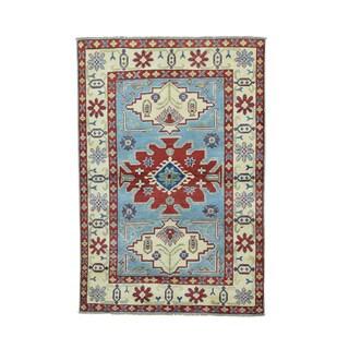 Multicolored 100-percent Wool Tribal And Geometric Design Kazak Rug (4' x 6')