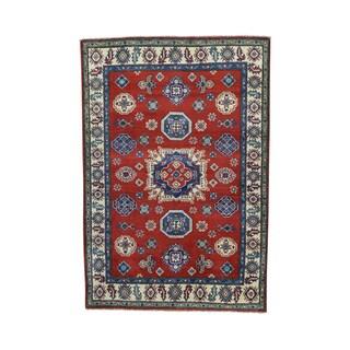 Pure Wool Geometric Design Kazak Hand-knotted Rug (3'10 x 5'8)