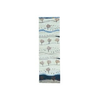 Gabbeh Pictorial Modern Hand-knotted Runner Rug (2'7 x 8')