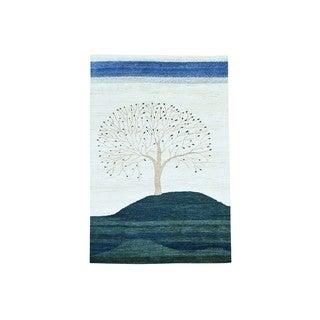 Hand-knotted Pure Wool Modern Pictorial Design Gabbeh Rug (6' x 9')
