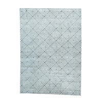 Silk With Oxidized Wool Geometric Design Rug - 10' x 13'10