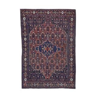 Antique Persian Bidjar Hand-knotted Rug (4'2 x 6'2)
