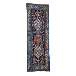 Antique Persian Bidjar Wide Runner Handmade Rug (3'7 x 9'10)
