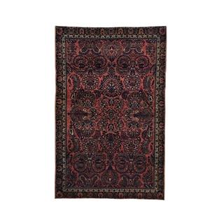 Antique Persian Sarouk Maharajan Full-pile Handmade Rug (4' x 6'2)