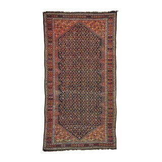 Gallery Size Antique Russian Hand-knotted Rug (6'3 x 11'10)