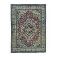 Antique Persian Khorasan Even Wear Handmade Rug