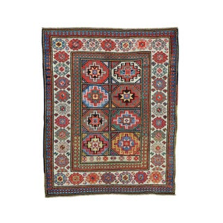 Antique Caucasian Moghan Kazak Hand-knotted Rug (4'8 x 5'9)