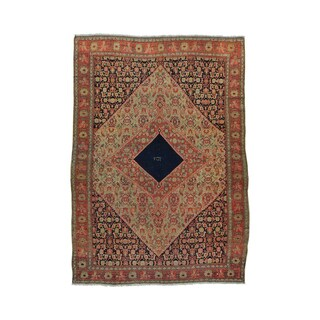 Antique Persian Senneh Exc Cond Signed Handmade Rug (4'4 x 6'4)