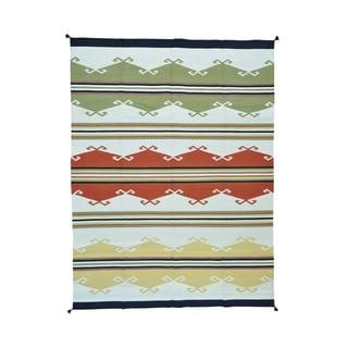 Design Kilim Flatweave Pure Wool Handwoven Rug (9' x 12')