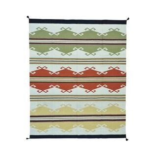 Wool Design Kilim Flatweave Handwoven Rug (8'2 x 10')
