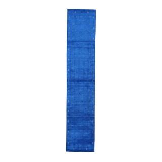 Hand-woven Pure Wool Modern Gabbeh Folk Art Runner Rug (2'6 x 13')