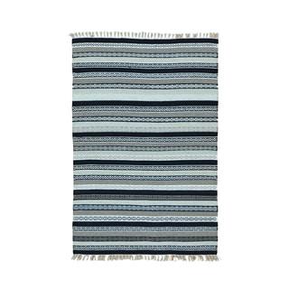 Hand-woven Striped Durie Kilim Flatweave Pure Wool Rug (4' x 6')