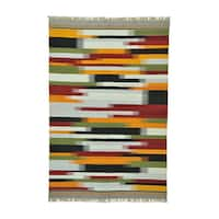Colorful Durie Kilim Flatweave Hand-woven Rug (6' x 9'2) - Multi