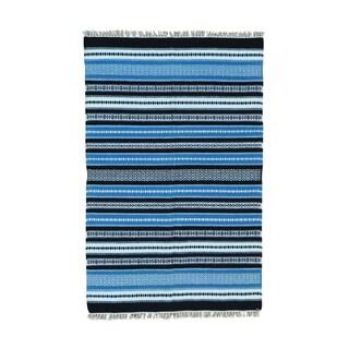 Durie Kilim Striped Flatweave Hand-woven Rug (3'10 x 6')