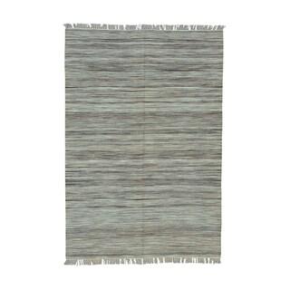 Handwoven Durie Kilim Pure Wool Flatweave Rug (5'3 x 7'8)