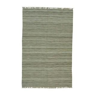 Durie Kilim Beige Pure Wool Hand-woven Flatweave Rug (5'1 x 8')