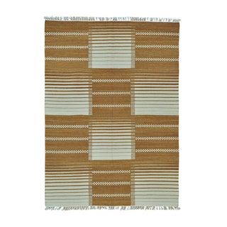 Pure Wool Flatweave Durie Kilim Handwoven Rug (5'8 x 7'10)