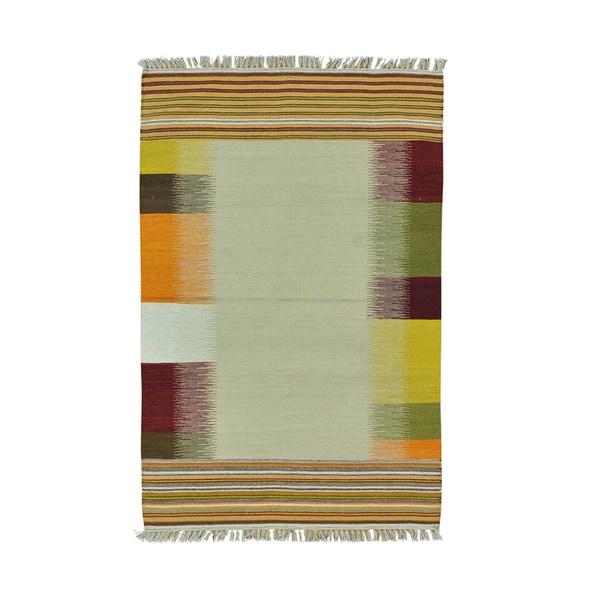 Handwoven Flatweave Colorful Durie Kilim Pure Wool Rug (4' x 6'2)