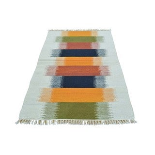 Colorful Reversible Durie Kilim Hand-woven Rug (3'2 x 5'3)
