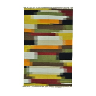 Durie Kilim Colorful Pure Wool Flatweave Hand-woven Rug (5' x 8')