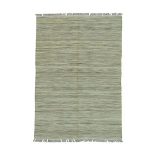 Hand-woven Striped Durie Kilim Flatweave Rug (5'2 x 7'5)